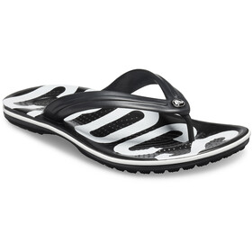 Crocs Crocband Printed Flips black/white